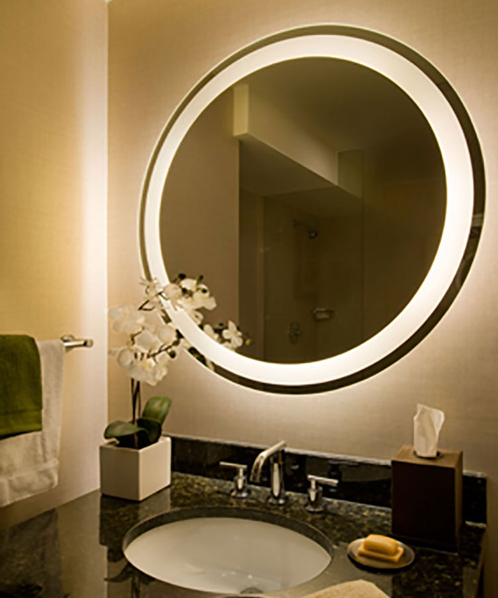Bathroom lighted mirror