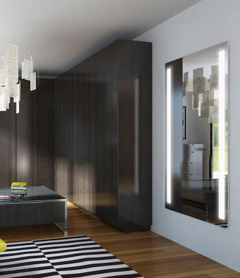 Fusion Wardrobe Mirror in Living Room