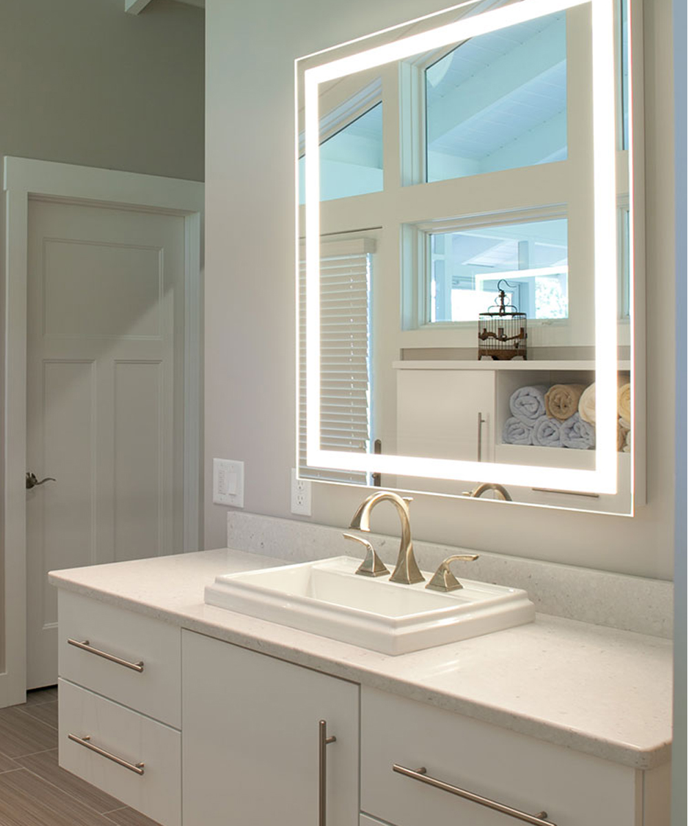 1000  images about Bathroom Lighting on Pinterest | Lighted mirror ...
