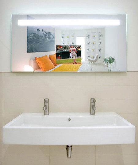 Quantum Lighted Mirror TV in The Hollywood