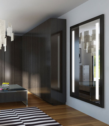 Reflection Wardrobe Mirror in Living Room