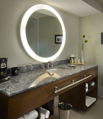 Trinity Lighted Mirror at the Hotel Indigo in Scottsdale