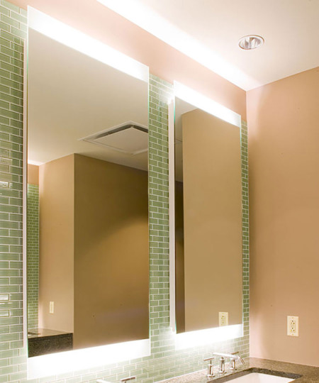 Novo-4 Lighted Mirror at the Trump International Hotel and Tower Chicago Illinois