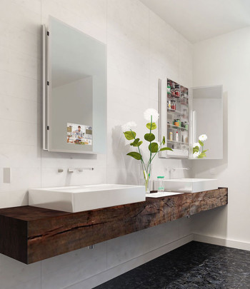 Seamless Mirrored Cabinet-angle view