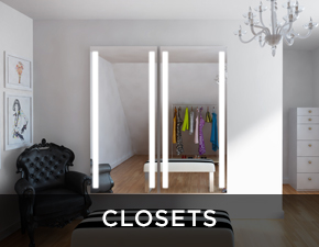 Electric Mirror residential projects Closets