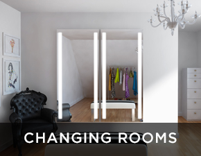 Electric Mirror salon and spa projects Changing Rooms