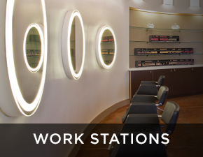 Electric Mirror salon and spa projects Work Stations