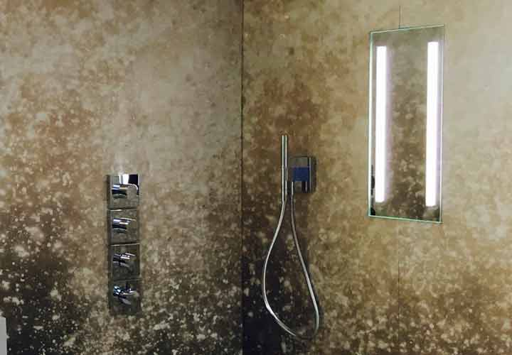 Acclaim Lighted In-Shower Fog-Free Mirror at ESO Decorative Plumbing
