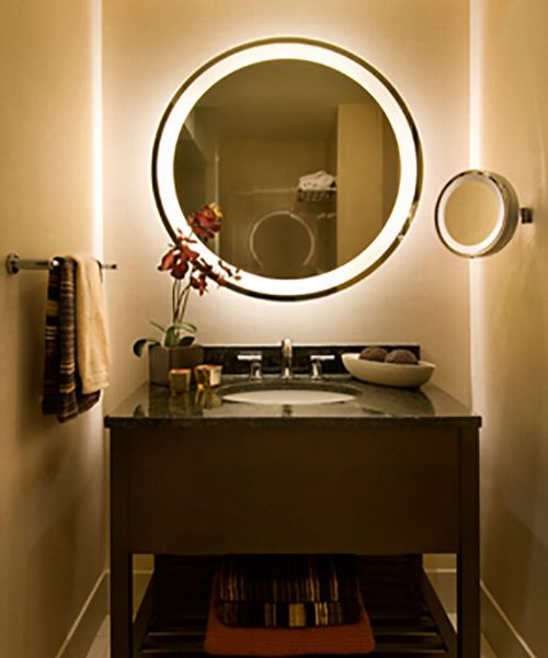 Eternity Lighted Mirror at the Shelburne New York full