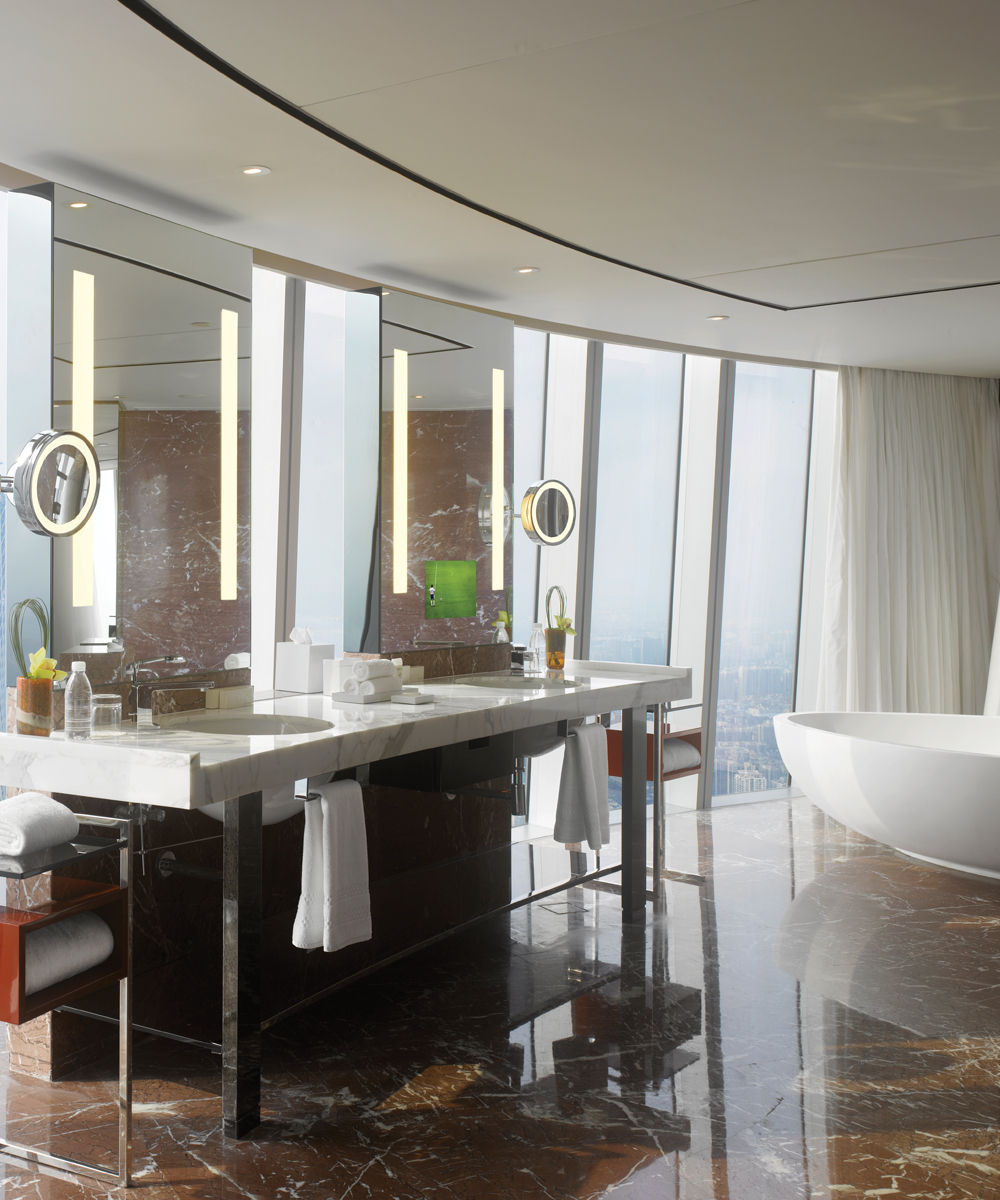 Fusion Lighted Mirror and Lighted Mirror TV at the Four Seasons Guangzhou China
