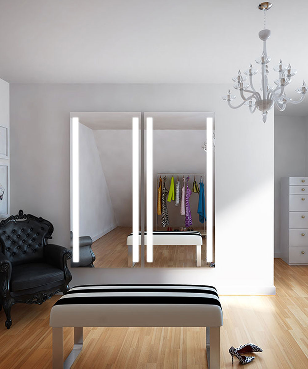 Fusion Wardrobe Mirrors in Dressing Room