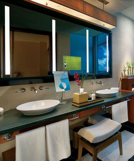 Impression Lighted Mirror TV at the Ritz Carlton Bal Harbour in Florida