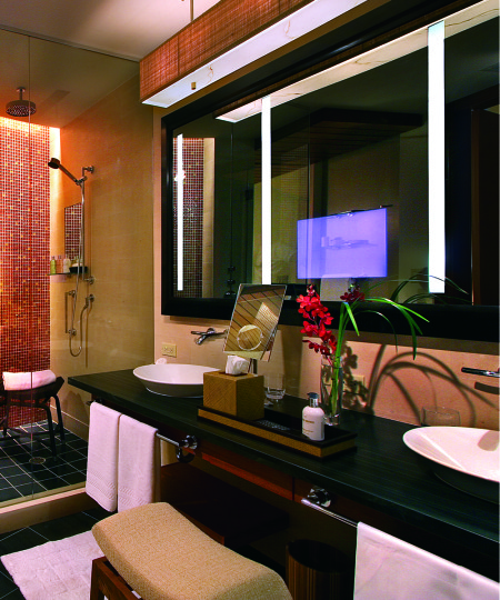Impression Lighted Mirror TV at the Ritz Carlton at Bal Harbour Florida