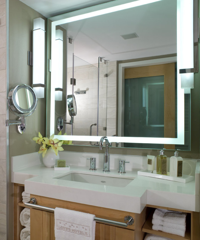 Integrity LED Lighted Mirror at Loews Hotel
