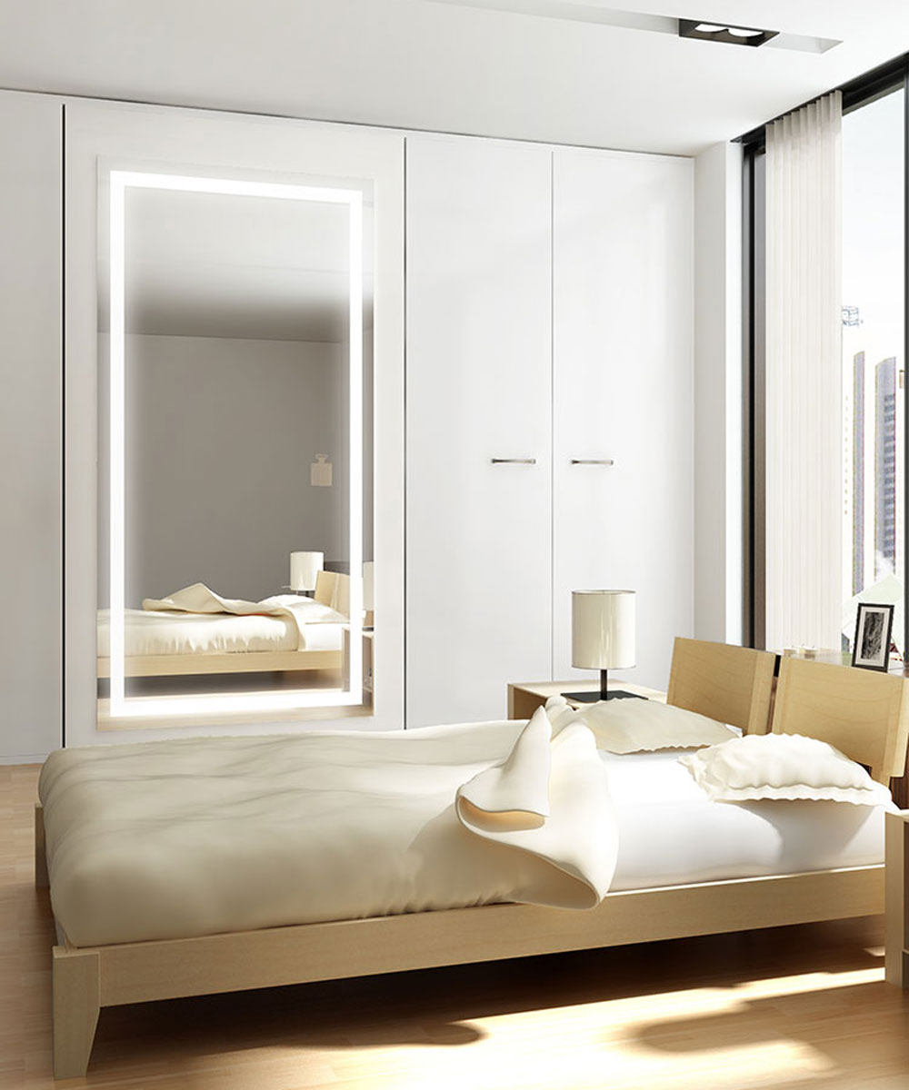 bedroom mirrors with lights integrity lighted mirror electric mirror 174 14354