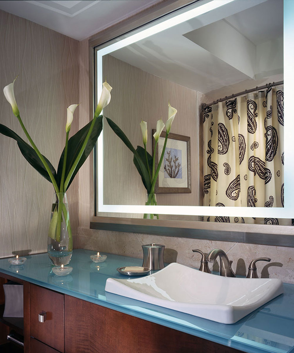 Momentum Lighted-Mirror at the One Ocean Resort and Spa in Atlantic Beach Florida