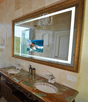 Momentum Lighted Mirror TV at the Eco Villa Lux St John US Virgin Islands