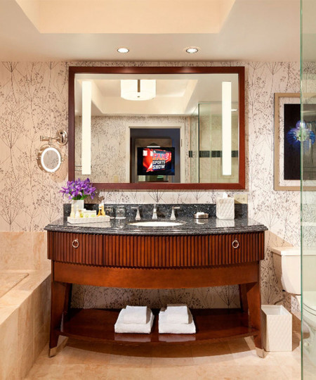 Reflection Lighted Mirror TV at the Bellagio Las Vegas