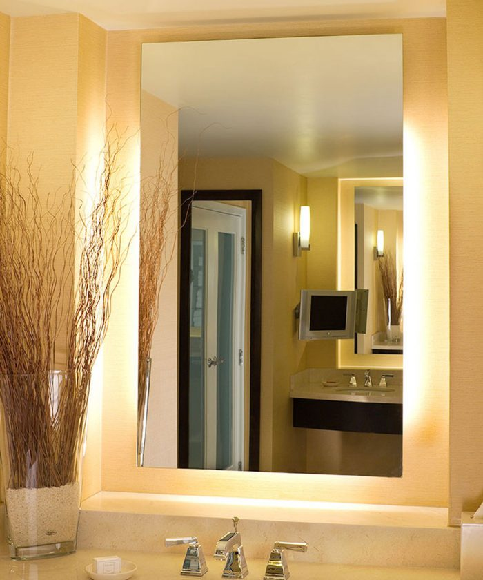 Serenity Lighted Mirror at the Agua Caliente Casino Resort Spa in Rancho Mirage