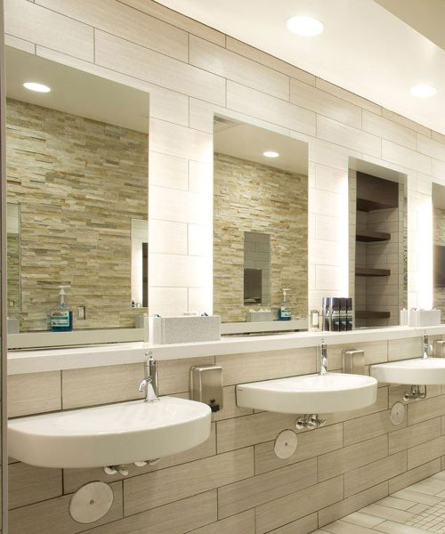 Lighted mirrors electric mirror the global leader in for Commercial bathroom lighting