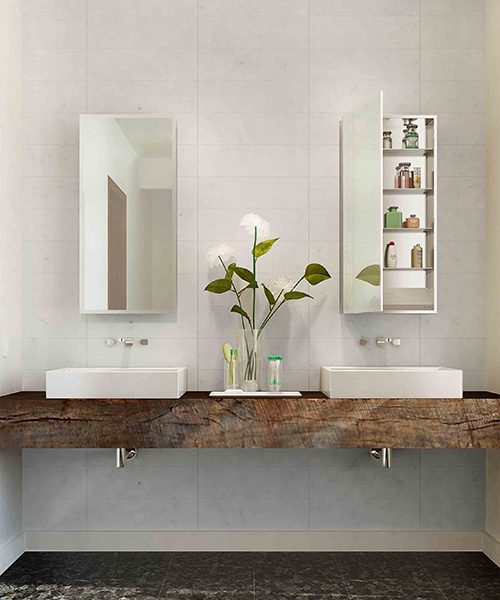 Simplicity Mirrored Cabinet by Electric Mirror