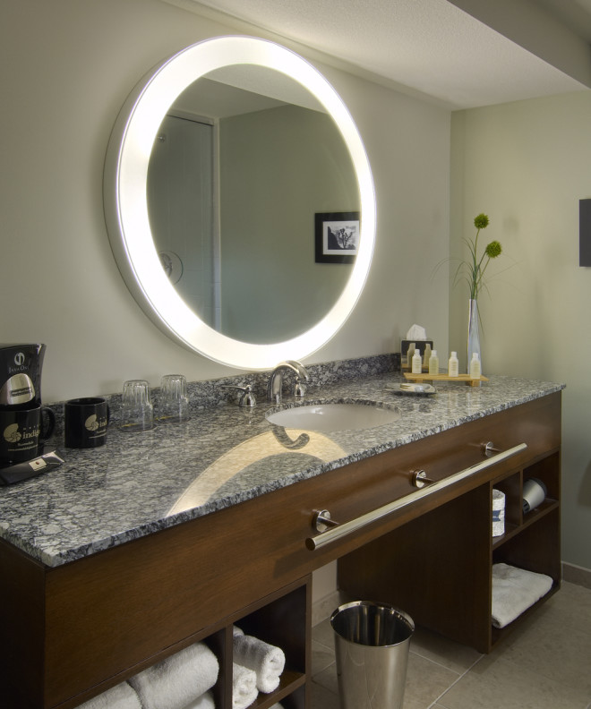 Safety Mirrors For Bathrooms: Silhouette™ LED Lighted Bathroom Mirror