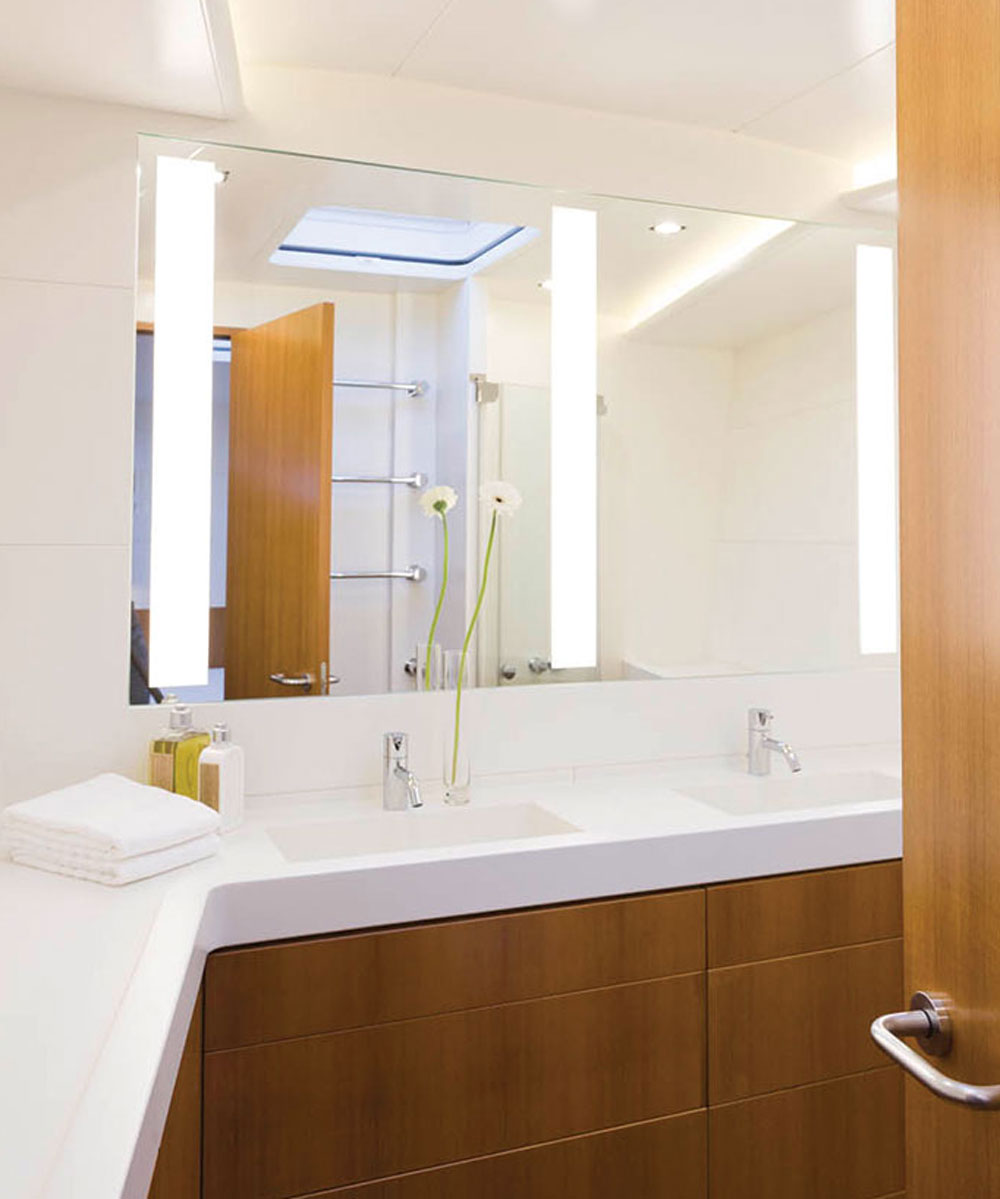 Triple Fusion Lighted Mirror On A Baltic Yachts Americas Vessel In Bristol Rhode Island