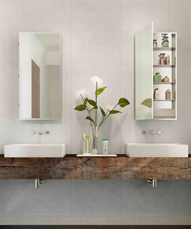 Simplicity Mirrored Cabinet