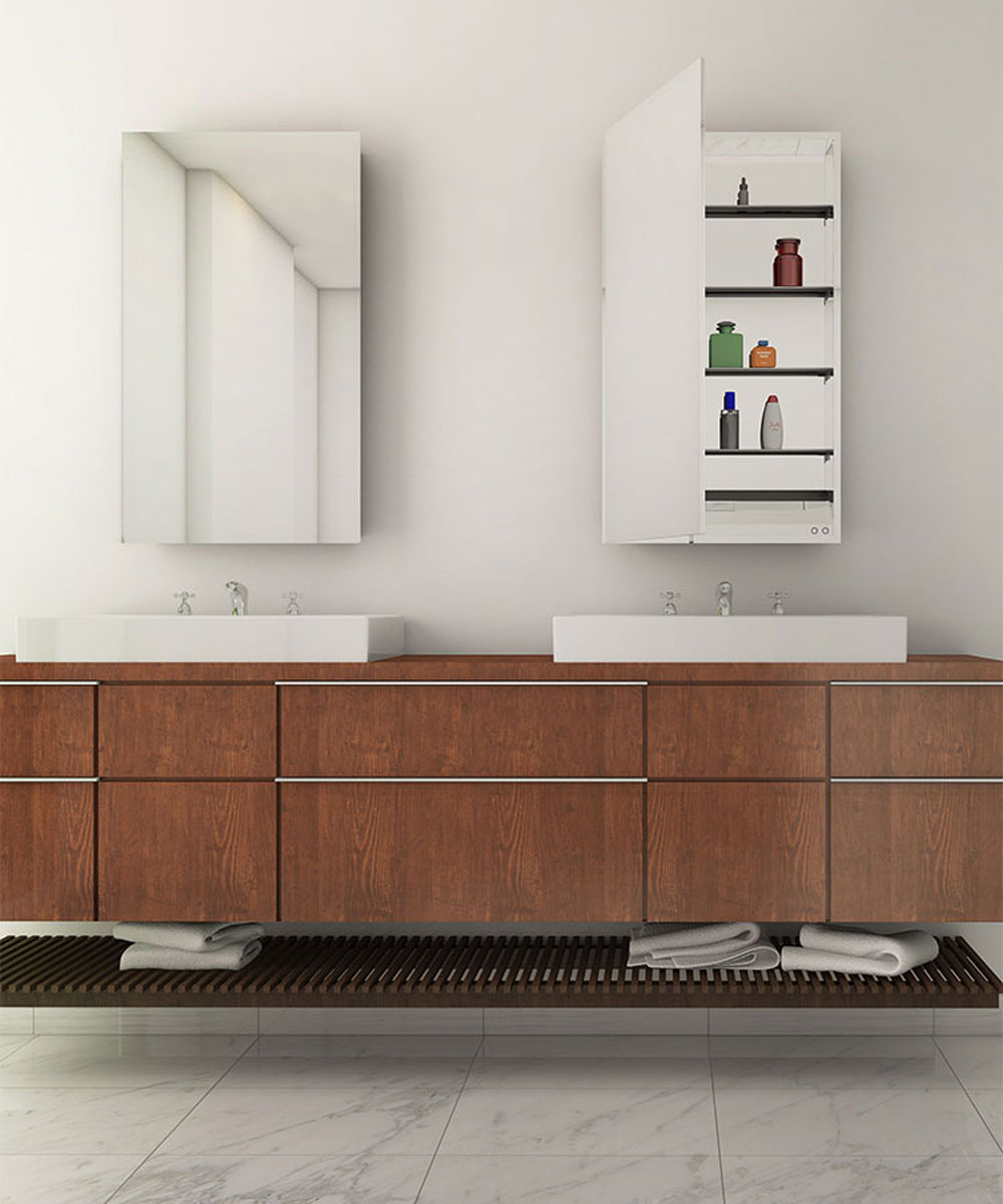 Simplicity Mirrored Cabinet-with wood vanity
