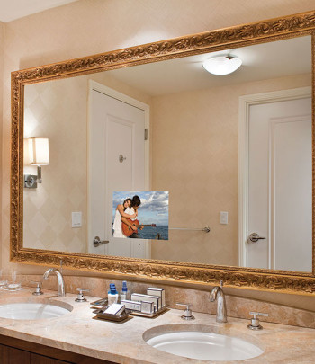 Stanford Bathroom Mirror TV at the Trump Las Vegas