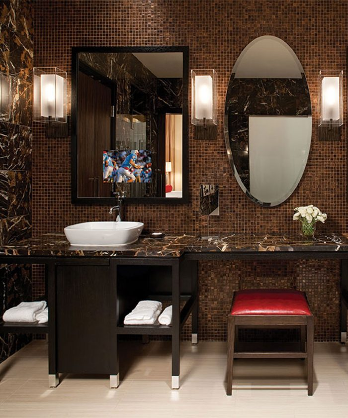 Stanford Bathroom Mirror TV at the Wind Creek Casino and Hotel Atmore Alabama