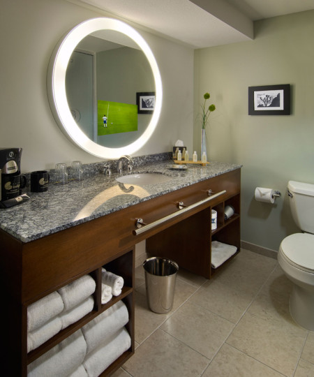 Trinity Lighted Mirror TV at the Hotel Indego in Scottsdale Arizona