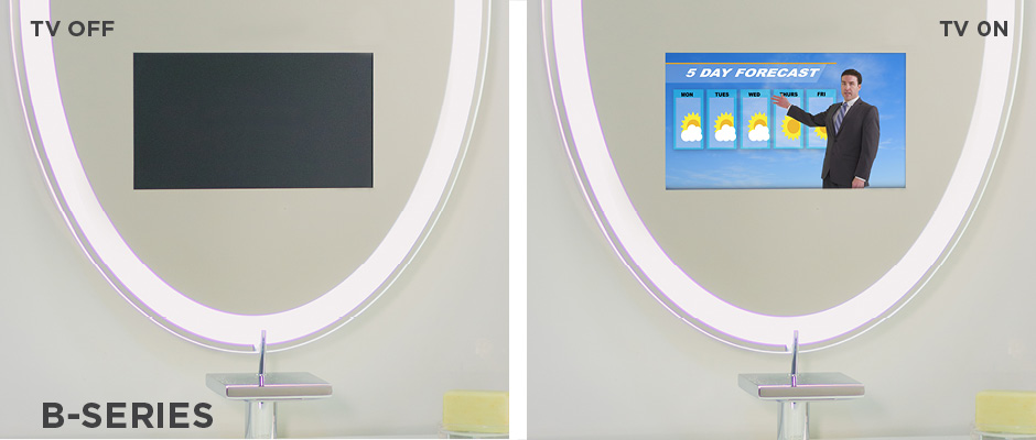 Electric Mirror B Series Mirror Technology Tv off and on