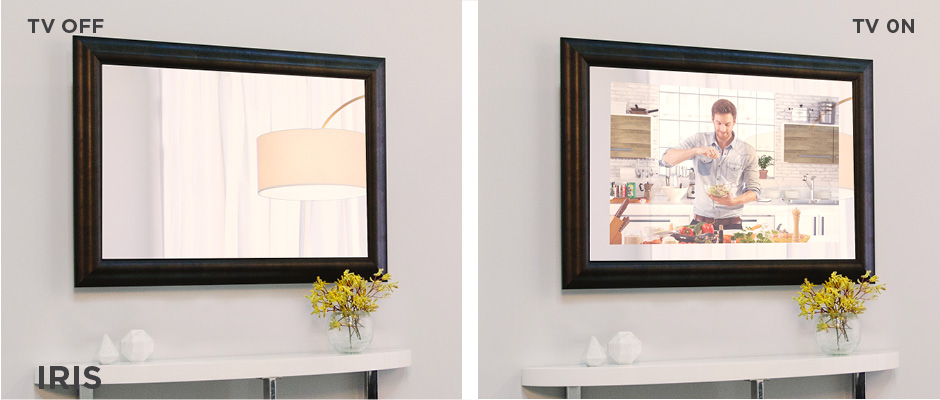 Electric Mirror Iris Mirror Technology TV off and on