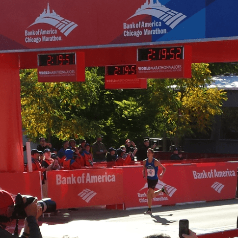 Electric Mirror Residential Inside Sales Manager crosses finish line at Chicago Marathon.