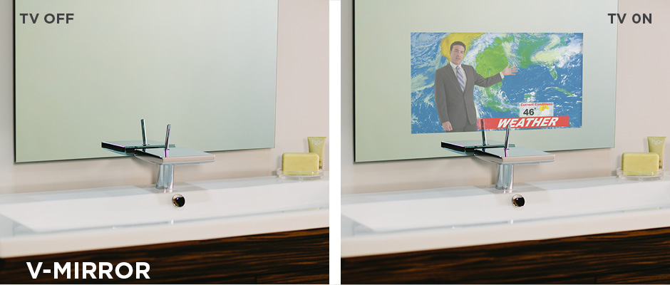 Electric Mirror V-Mirror Technology Tv off and on