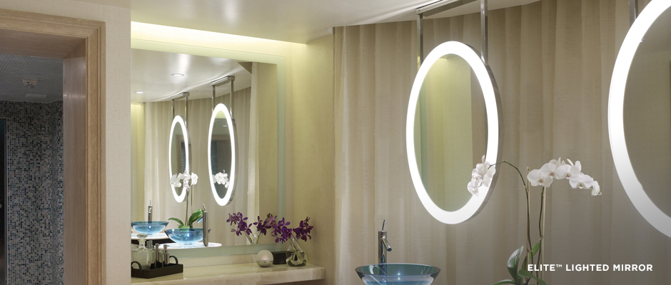 Electric Mirror residential projects Elite Lighted Mirrors