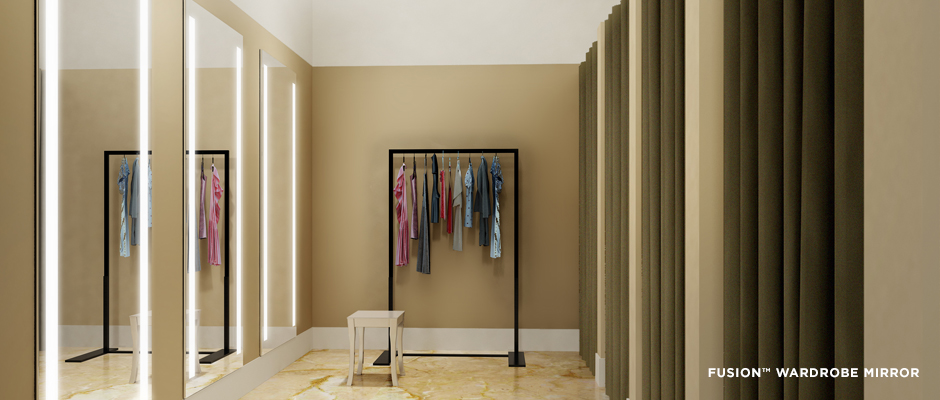 Electric Mirror retail projects Fusion Wardrobe Mirror