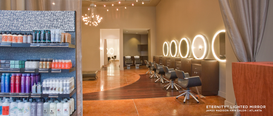 Electric Mirror salon and spa projects Integrity Lighted Mirrors at NH2 Salon