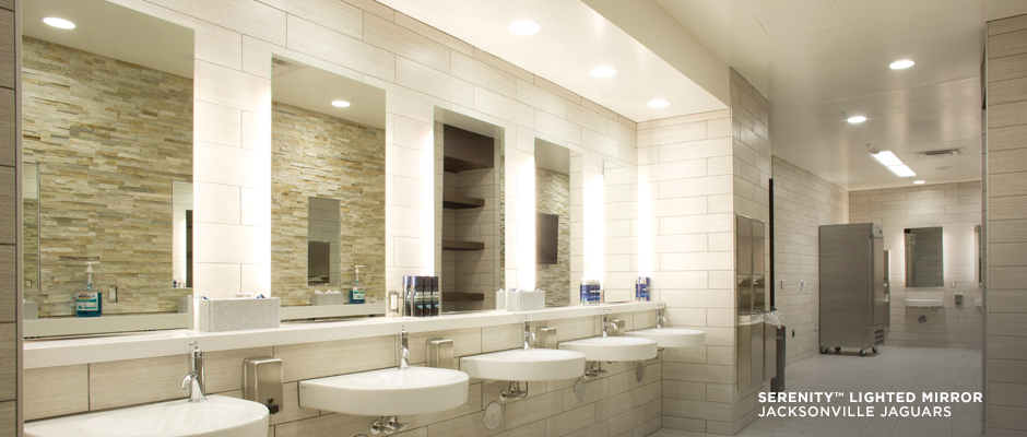 Electric Mirror sports projects Serenity Lighted Mirrors at Jacksonville Jaguars