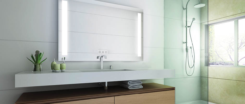 Installation Training Fusion Lighted Mirror with Keen Dimming Technology