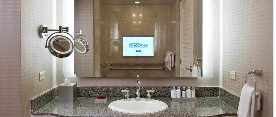 Installation Training Serenity Lighted Mirror TV with Hospitality TV network enabled