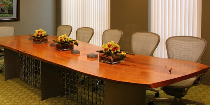 Urban Hadwoods boardroom table in a small office environment.
