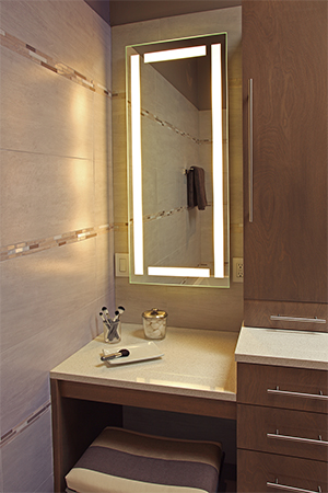 Efinity Lighted Mirror Brightens A Dull Bathroom On Houzz