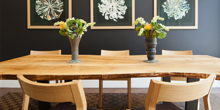 Urban Hardwoods dining room table in a luxury home.
