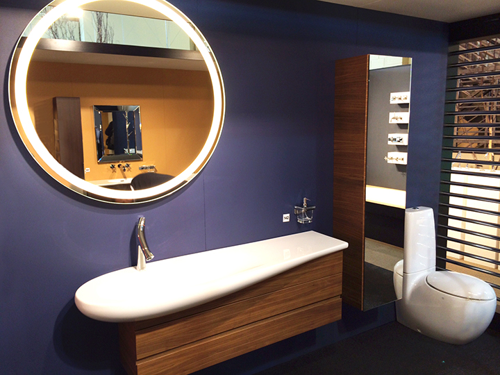 Eternity Lighted Mirrors at The Bath + Beyond Showroom