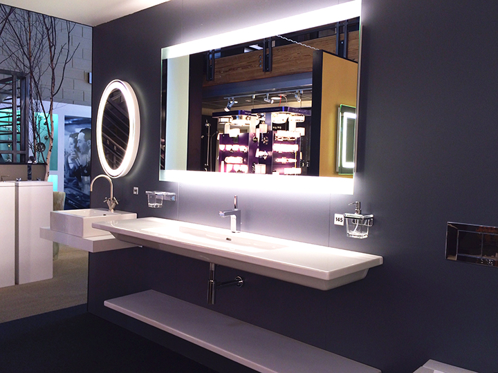 Eternity and Novo-4 Lighted Mirrors at The Bath + Beyond Showroom
