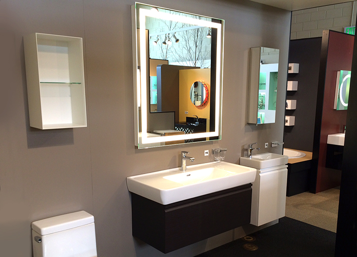 Integrity Lighted Mirror at The Bath + Beyond Showroom