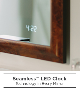 Seamless Led Clock For Lighted Mirrors Electric Mirror 174