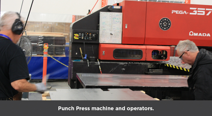 Punch Press machine and operators